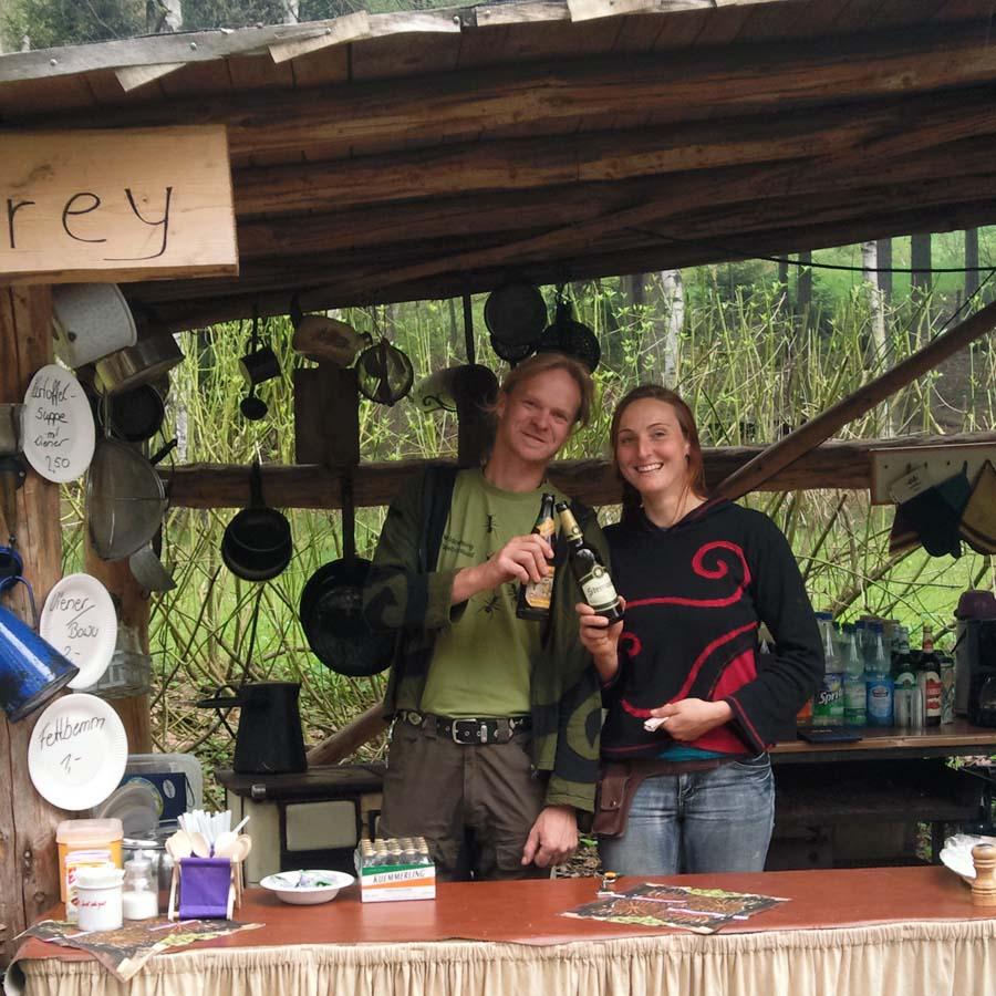 Waldcamping Steffen und Sofia