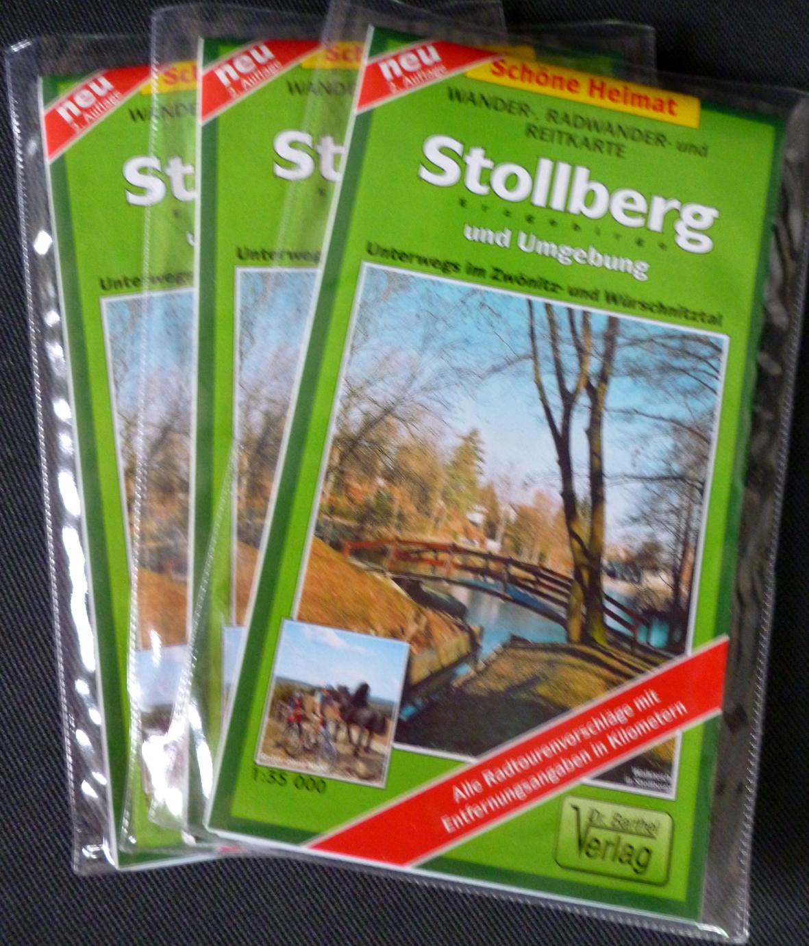 Wander-, Rad- und Reitkarte:  Stollberg und Umgebung
