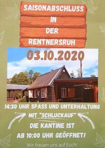 Plakat Veranstaltung Rentners Ruh
