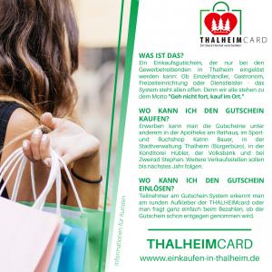 Information zur Thalheimcard für Kunden